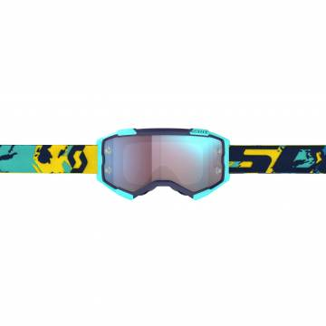 SCOTT Fury Motocross Brille, blau/orange, 272828-1454349 Vorderansicht