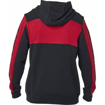 FOX Honda Zip Hoodie, schwarz/rot, 25955-017 Rückansicht