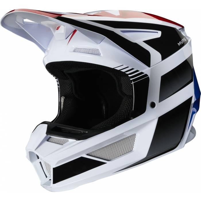 Fox V2 Hayl Kinder Motocross Helm, weiss/rot/blau, 24786-149