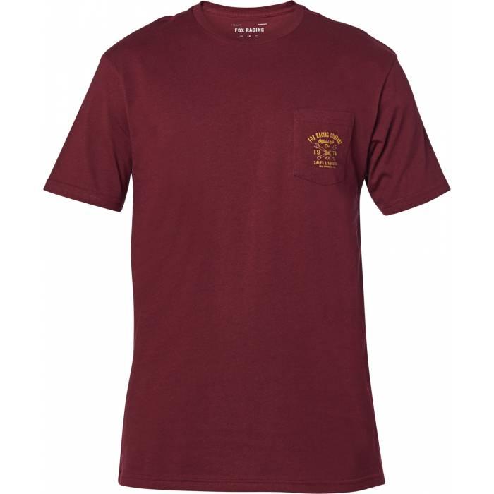 FOX Wrenched Premium Pocket T-Shirt, dunkelrot, 26015-527