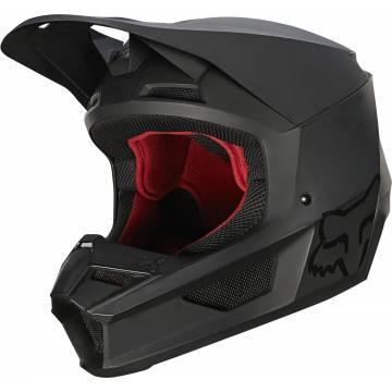 FOX V1 Matte Motocross Helm, schwarz matt, 27740-255