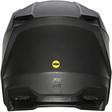 FOX V1 Matte Kinder Motocross Helm, schwarz matt, 27737-255 Rückansicht