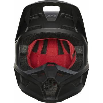 FOX V1 Matte Kinder Motocross Helm, schwarz matt, 27737-255 Frontansicht