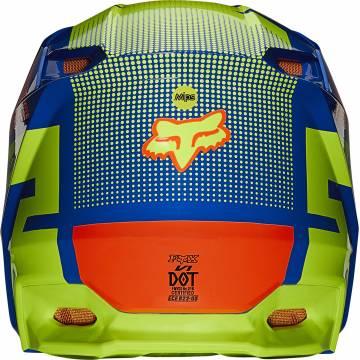 FOX V1 Oktiv Kinder Motocross Helm   blau-neongelb   25878-002 Ansicht hinten