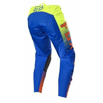 FOX 180 Oktiv Kinder Motocross Hose, blau/neongelb, 25865-002 Rückansicht