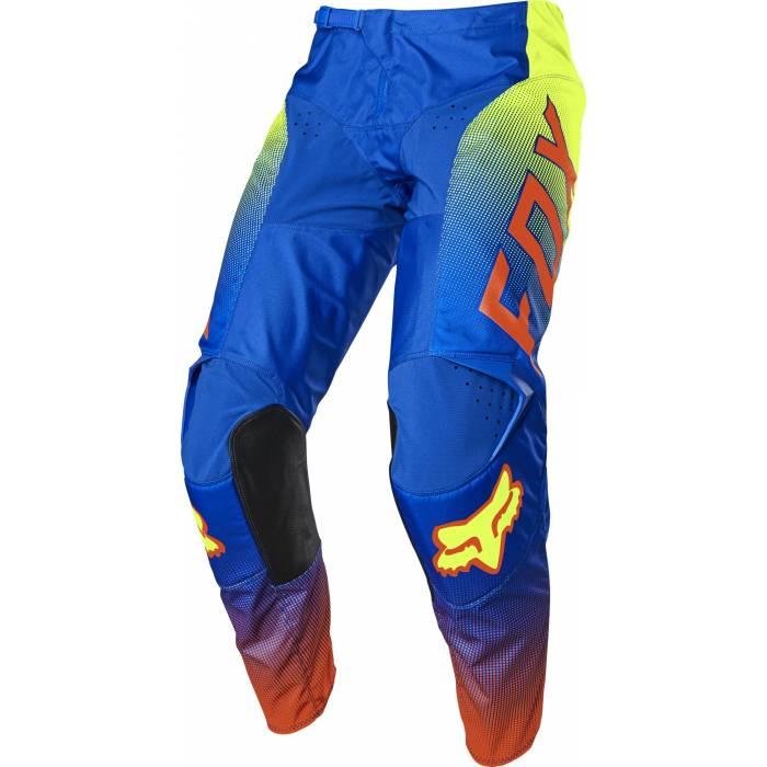 FOX 180 Oktiv Kinder Motocross Hose, blau/neongelb, 25865-002