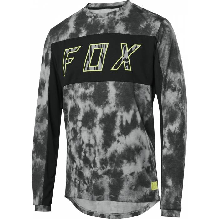 FOX Ranger DR Elevated Mountainbike langarm Shirt, schwarz, 26143-001