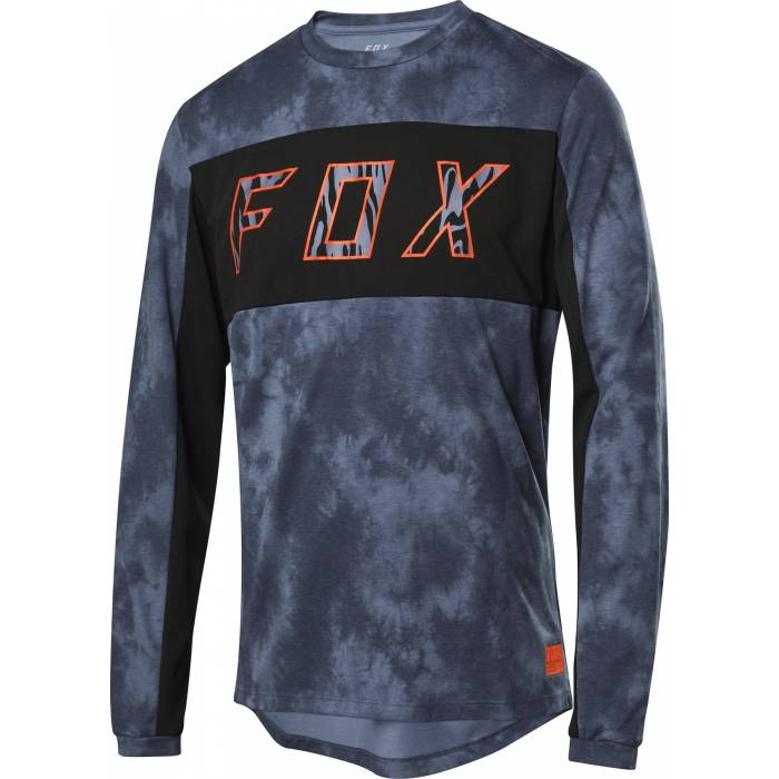 FOX Ranger DR Elevated Mountainbike langarm Shirt, dunkelblau, 26143-305