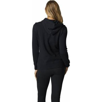 FOX Boundary Damen Hoodie, schwarz/weiss, 25698-001 Rückansicht