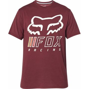 FOX Tech T-Shirt Herren Overhaul | dunkelrot | 26453-527
