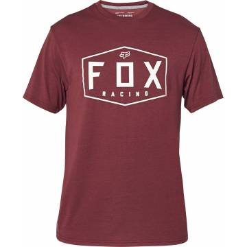 FOX Tech T-Shirt Herren Crest | dunkelrot | 25993-527