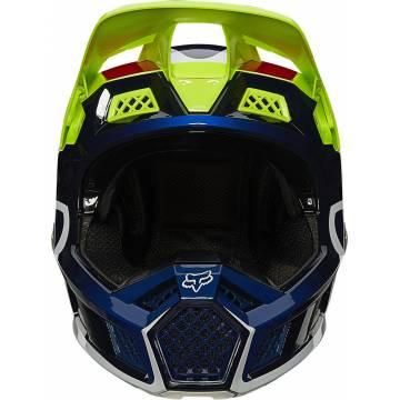 FOX V3 RS Wired Motocross Helm   neongelb   25814-130 Ansicht vorne