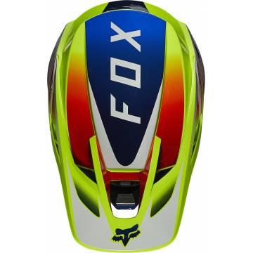 FOX V3 RS Wired Motocross Helm   neongelb   25814-130 Ansicht oben