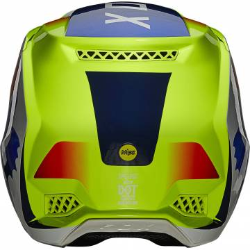 FOX V3 RS Wired Motocross Helm   neongelb   25814-130 Ansicht hinten