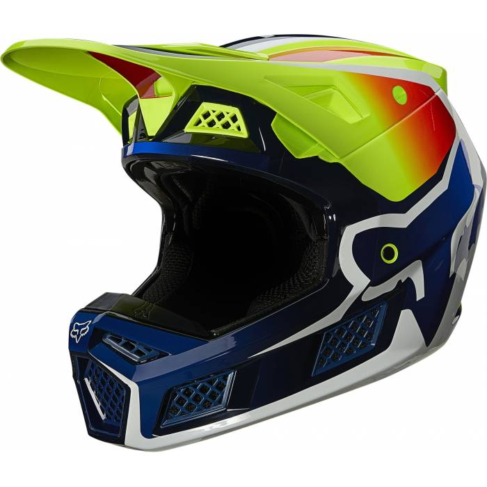 FOX V3 RS Wired Motocross Helm | neongelb | 25814-130