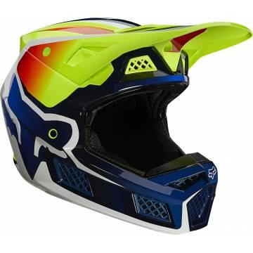 FOX V3 RS Wired Motocross Helm   neongelb   25814-130 Seitenansicht