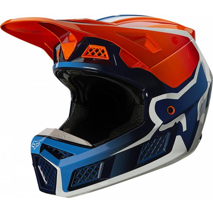 FOX V3 RS Wired Motocross Helm | orange | 25814-824