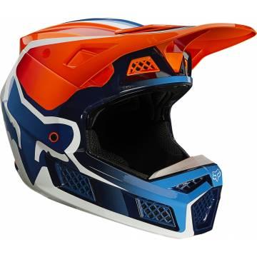 FOX V3 RS Wired Motocross Helm   orange   25814-824 Seitenansicht