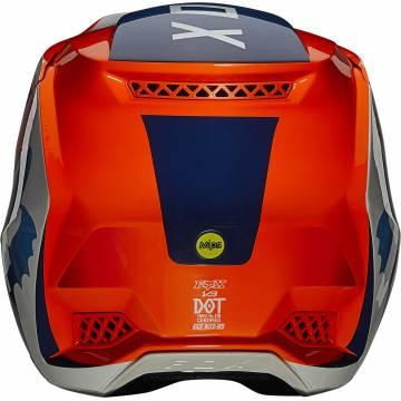 FOX V3 RS Wired Motocross Helm   orange   25814-824 Ansicht hinten