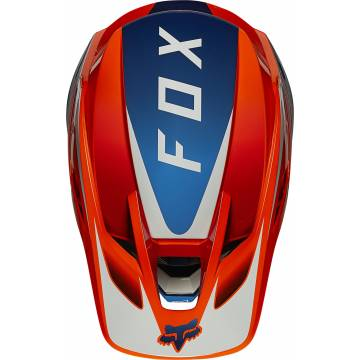 FOX V3 RS Wired Motocross Helm   orange   25814-824 Ansicht oben