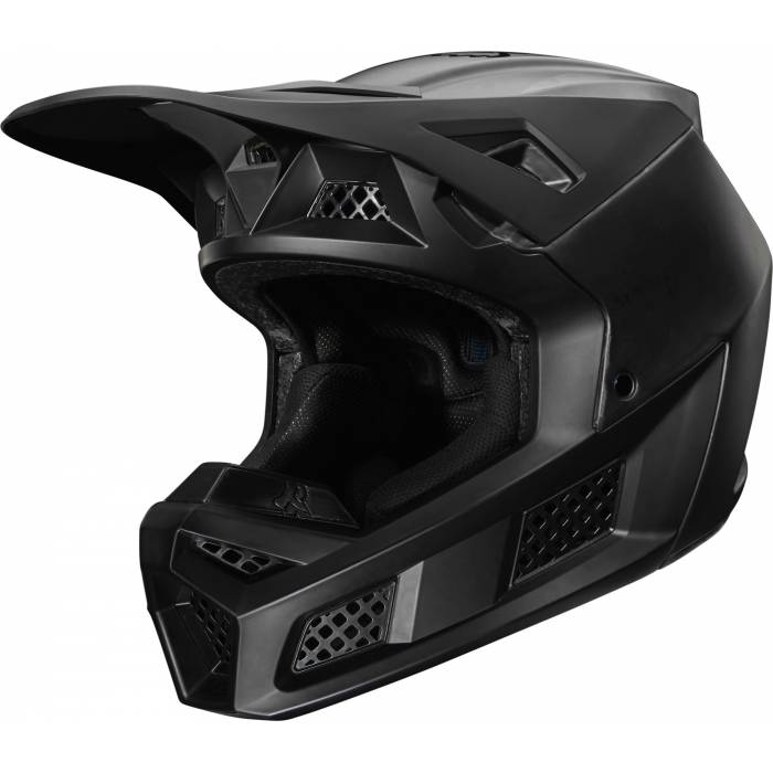 FOX V3 RS Solids Motocross Helm | matt schwarz | 27732-255
