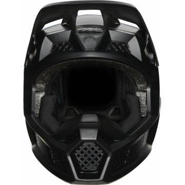 FOX V3 RS Solids Motocross Helm | matt schwarz | 27732-255 Frontansicht
