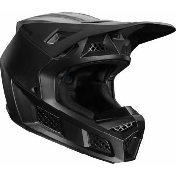 FOX V3 RS Solids Motocross Helm | matt schwarz | 27732-255 Seitenansicht