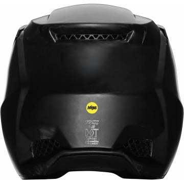 FOX V3 RS Solids Motocross Helm | matt schwarz | 27732-255 Ansicht hinten