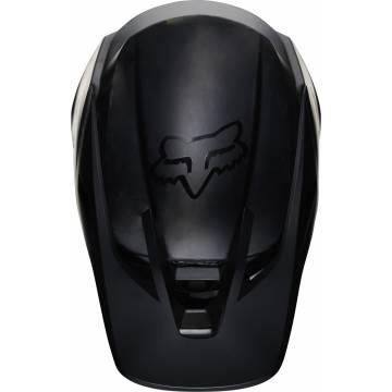 FOX V3 RS Solids Motocross Helm | matt schwarz | 27732-255 Ansicht oben