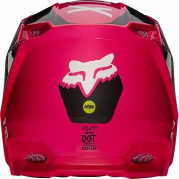 FOX V1 Revn Motocross Helm   pink   25819-170 Ansicht hinten