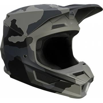FOX V1 Trev Motocross Helm   camo schwarz   27734-247 Seitenansicht