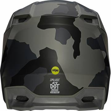 FOX V1 Trev Motocross Helm   camo schwarz   27734-247 Ansicht hinten