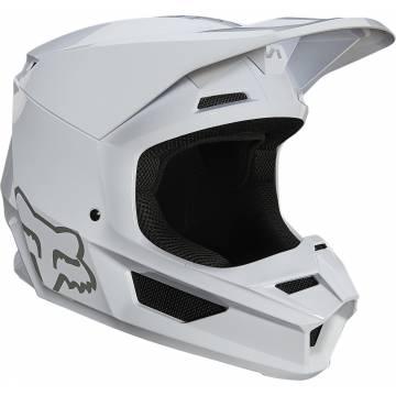 FOX V1 Plaic Motocross Helm   weiß   26575-008 Seitenansicht