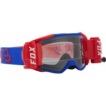 FOX Vue Stray Roll Off Motocross Brille | blau-orange | 25829-002-OS Seitenansicht