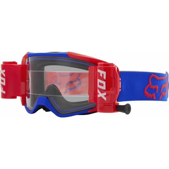 FOX Vue Stray Roll Off Motocross Brille | blau-orange | 25829-002-OS