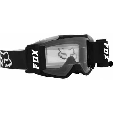 FOX Vue Stray Roll Off Motocross Brille | schwarz-weiß | 25829-001-OS Seitenansicht