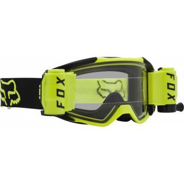 FOX Vue Stray Roll Off Motocross Brille   neongelb-schwarz   25829-130-OS Seitenansicht