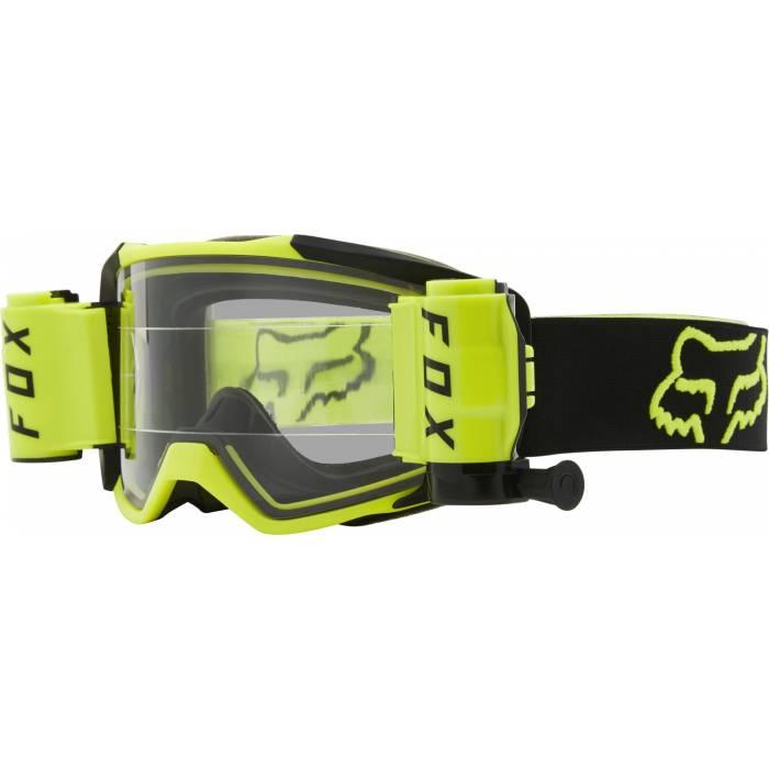 FOX Vue Stray Roll Off Motocross Brille   neongelb-schwarz   25829-130-OS