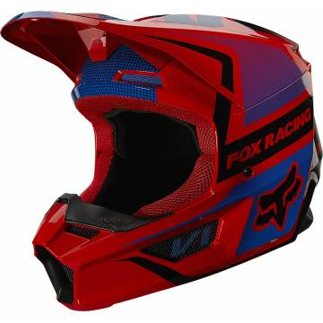 FOX V1 Oktiv Kinder Motocross Helm | rot-blau | 25878-110