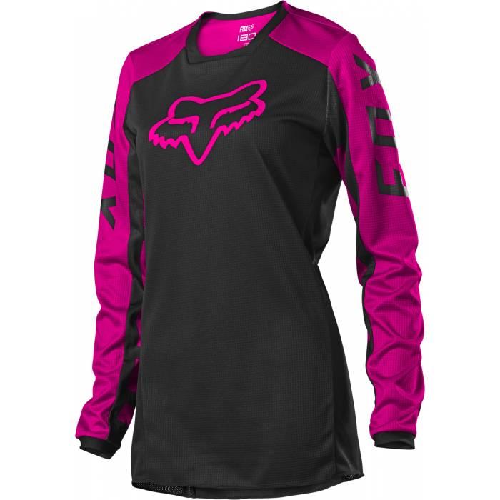 FOX 180 Damen Jersey Djet | schwarz-pink | 25853-285