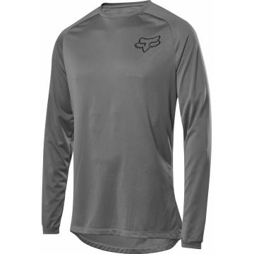FOX MTB Baselayer Tecbase| langarm | grau | 26279-006