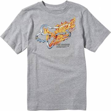 FOX Kinder T-Shirt Turn N Burn | hellgrau | 25919-416