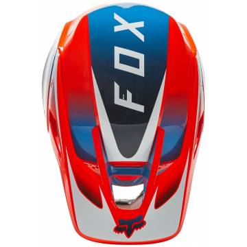 FOX V3 RS Wired Motocross Helm   orange-blau   25814-122 Ansicht oben