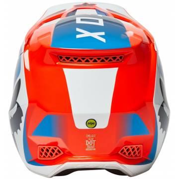 FOX V3 RS Wired Motocross Helm   orange-blau   25814-122 Ansicht Rückseite