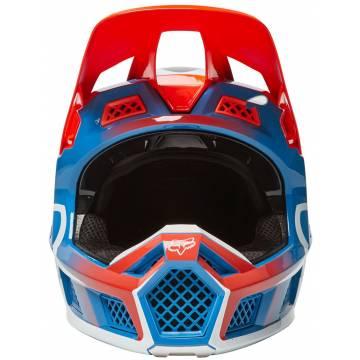 FOX V3 RS Wired Motocross Helm   orange-blau   25814-122 Ansicht vorne