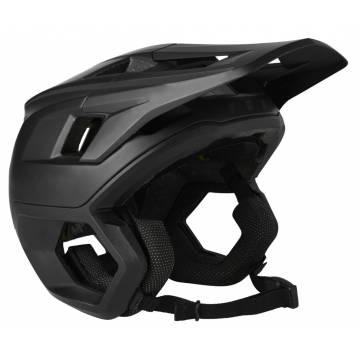 FOX Dropframe Pro Mountainbike Helm | schwarz matt | 26800-001 Seitenansicht