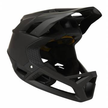 FOX Mountainbike Fullface Helm Proframe   schwarz matt   26798-001 Seitenansicht