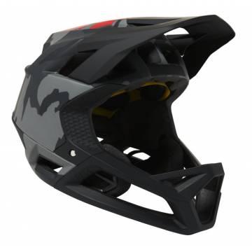 FOX Mountainbike Fullface Helm Proframe Camo | camo-grau | 26806-247 Seitenansicht