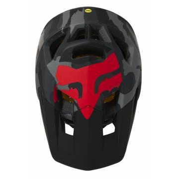 FOX Mountainbike Fullface Helm Proframe Camo | camo-grau | 26806-247 Ansicht Oberseite
