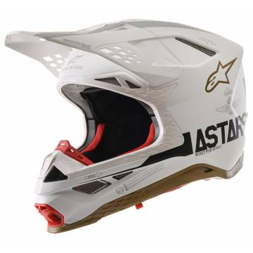 ALPINESTARS Limited Edition Squad 20 Supertech M8 Helm | weiß silber gold | 8302720-259